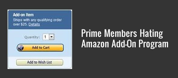 amazon add on program prime members