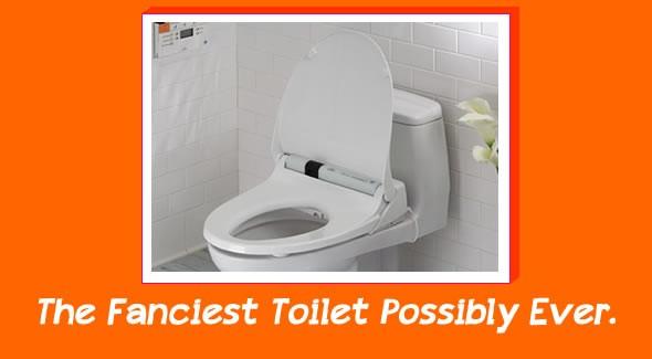 fancy toilet toto