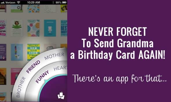 Digital Mom Blog Review Treat Birthday Card App for the iPhone – Birthday Card App