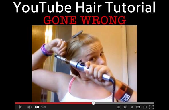 youtube hair tutorial fail