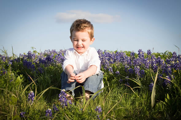 Izaiah in the bluebonents
