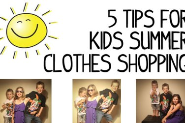 shopping for kids summer clothes
