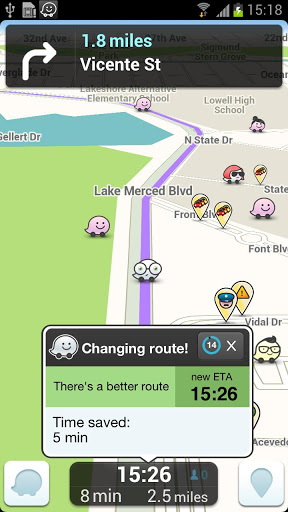 View other Wazers on the map