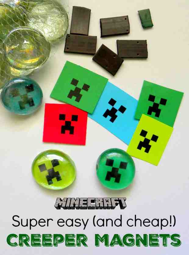 Minecraft Magnets - Minecraft Crafts