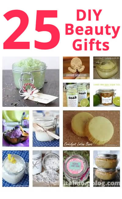25 Beauty DIY Gifts - Perfect for Christmas!