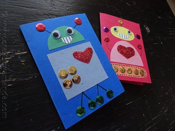 robot valentine cards