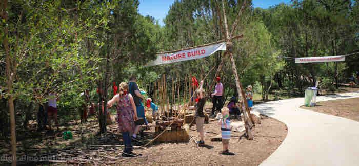 nature build at Lady Bird Johnson Wildflower Center