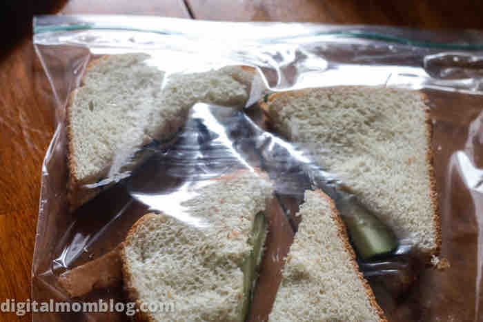 refrigerate cucumber sandwiches