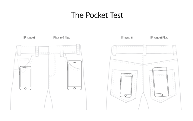 Apple iPhone 6+ Pocket Test