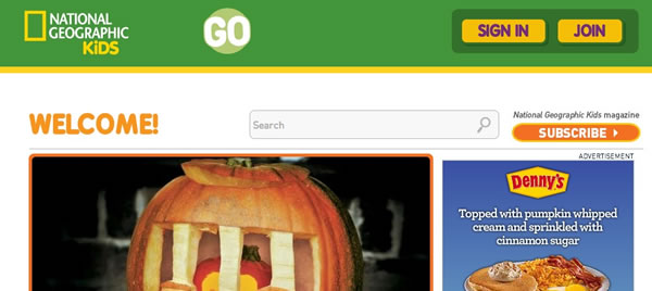 National Geographic website kids for kids