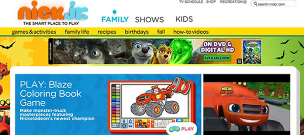 website for tots - nick junior