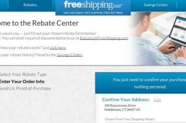shipping rebate information