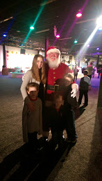 the kids with santa