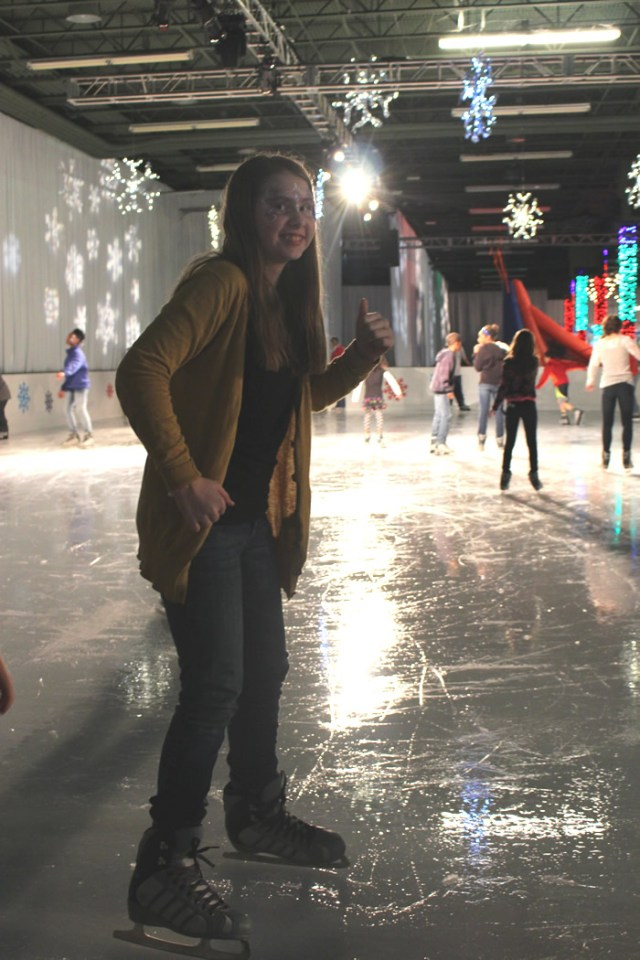 Our daughter Z, ice skating!