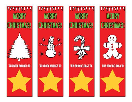 free christmas bookmarks
