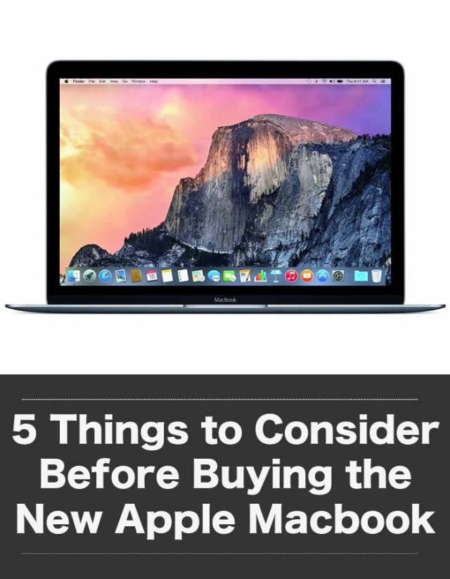 Things to Consider Before Buying the New Apple Macbook