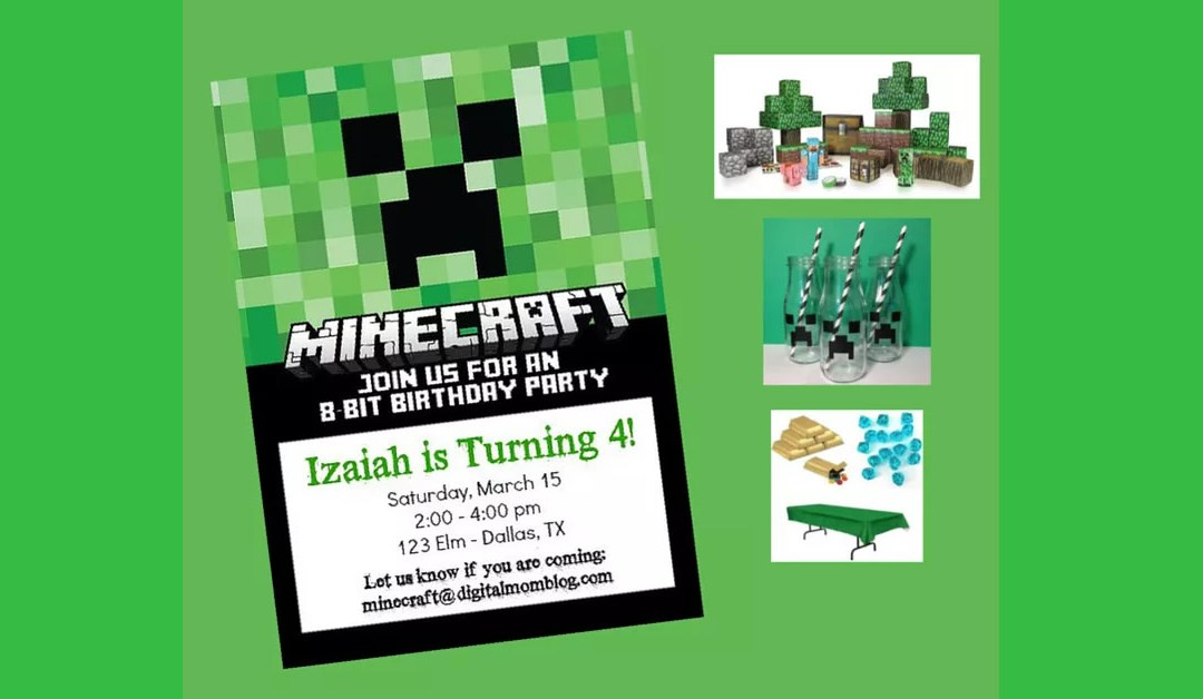 How to Throw a Minecraft Party Your Kids Will LOVE!