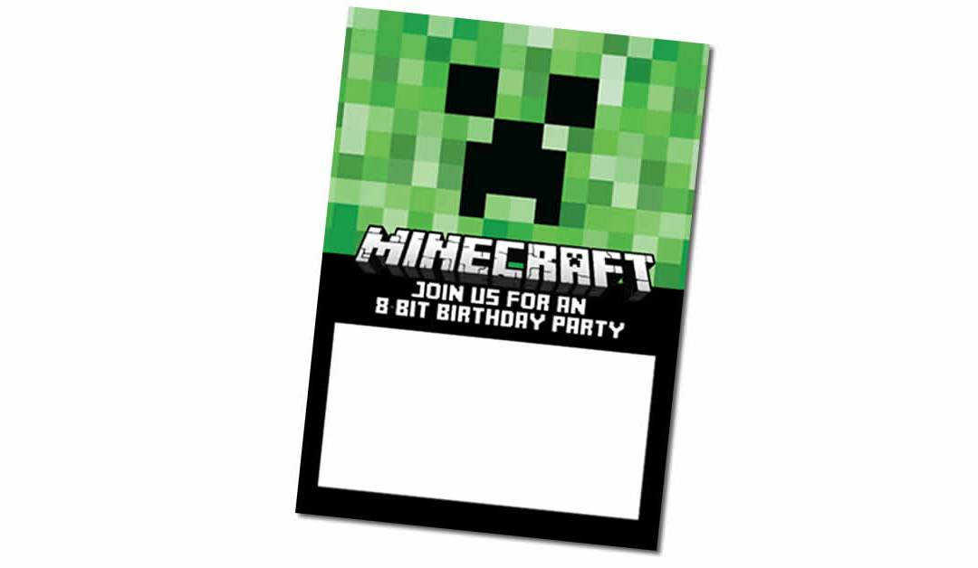 Free Minecraft Birthday Invitation
