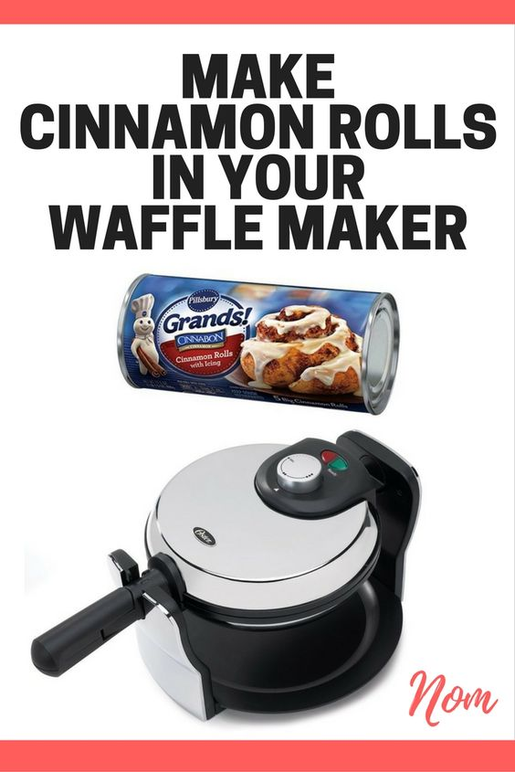 This quick and easy breakfast for kids will be a new mom favorite. Try this Cinnamon Roll Waffle recipe made in a waffle maker. It's easy to make and a kid favorite. #breakfast #cinnamon #cinnamonrolls #kidfood #recipes #wafflemaker #momhack