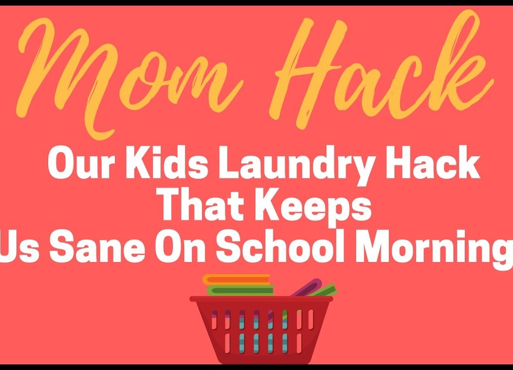 Kids Laundry Hack – Help School Mornings With This Trick!
