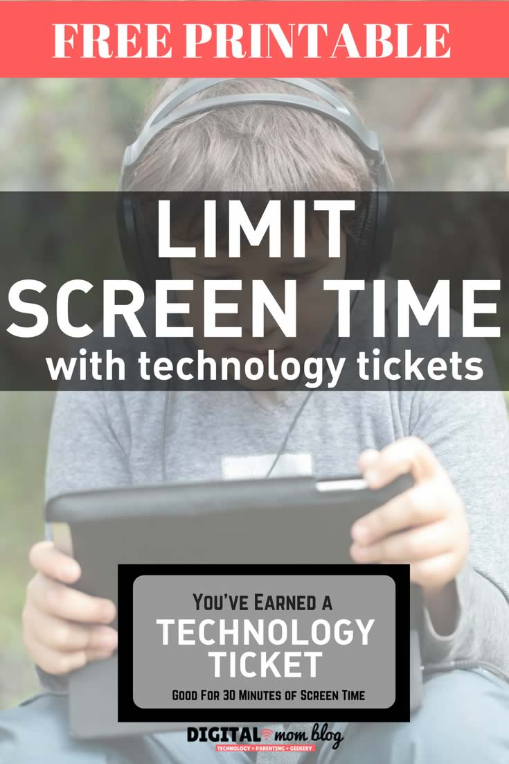 Limit Screen Time with Technology Tickets