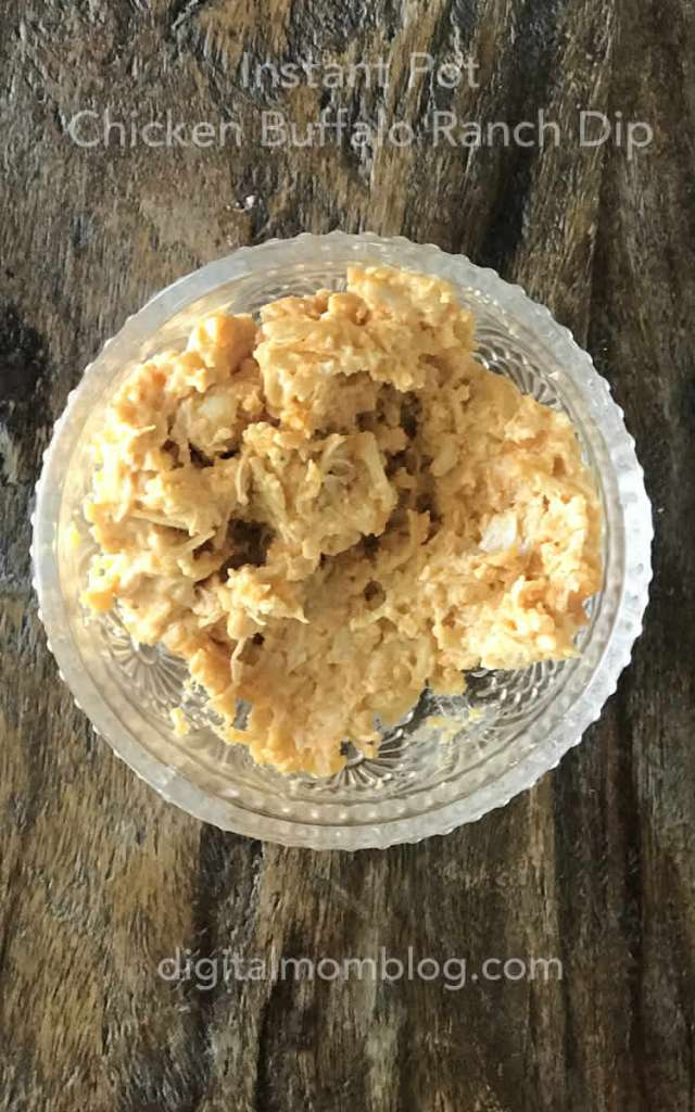 Quick Instant Pot Chicken Buffalo Ranch Dip Recipe