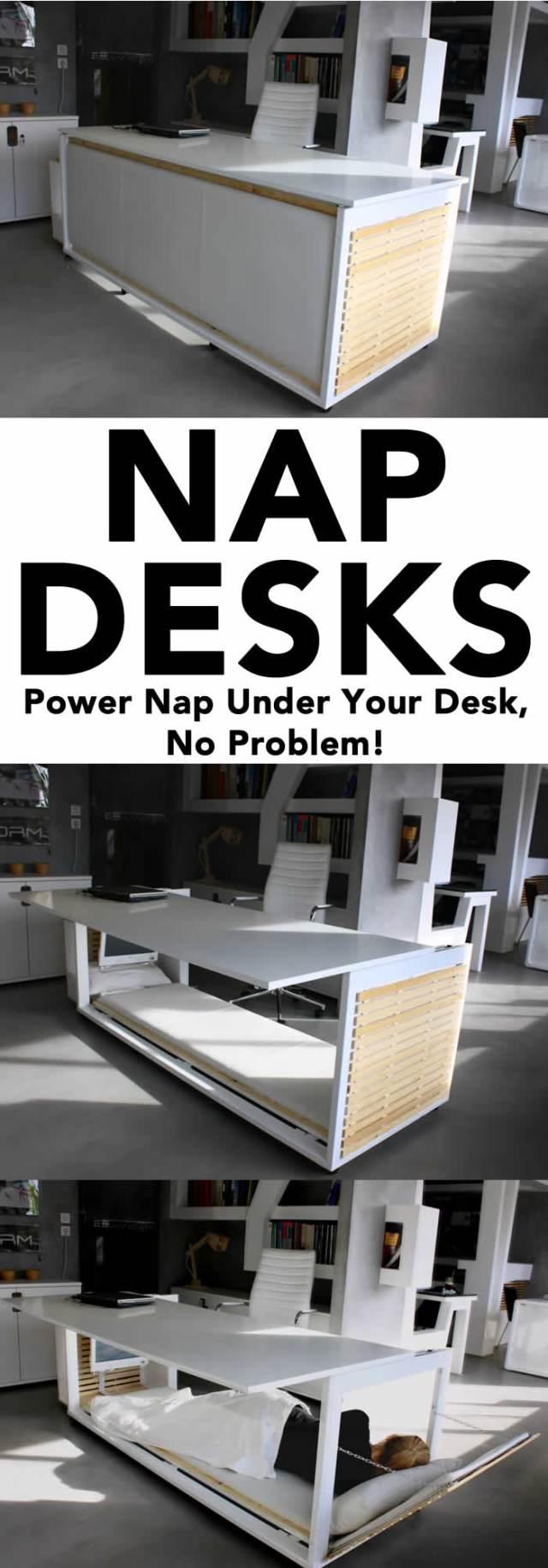 Nap Desks - a desk built for power napping