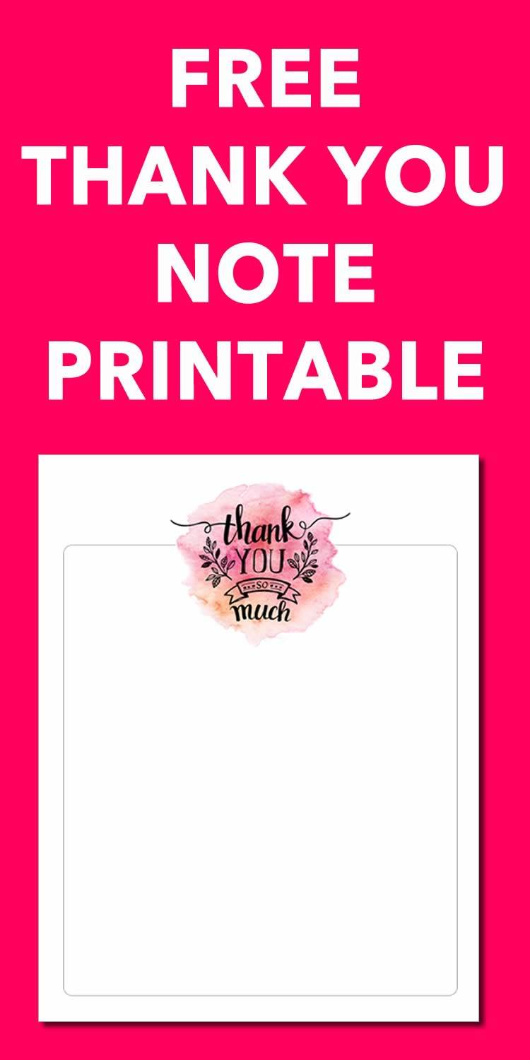 free thank you printable