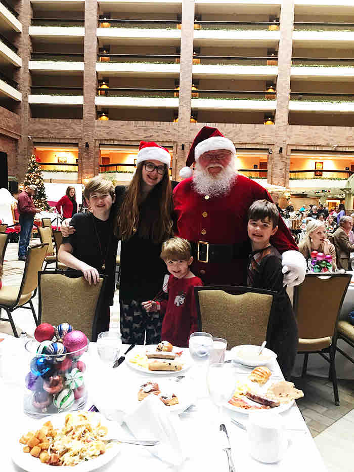 Breakfast with Santa Dallas, TX Hilton Anatole Christmas