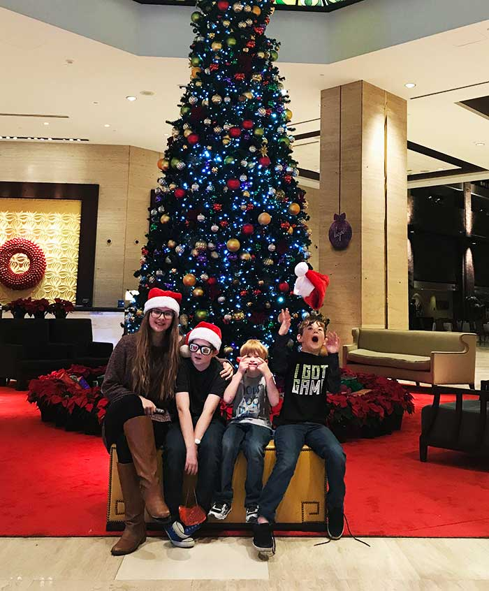 hilton anatole dallas - Christmas at the Anatole Review - Peppermint Park, Movie Night, Breakfast with Santa and MORE!