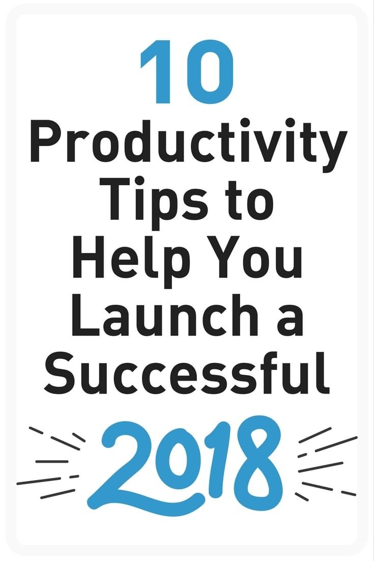 2018 productivity tips