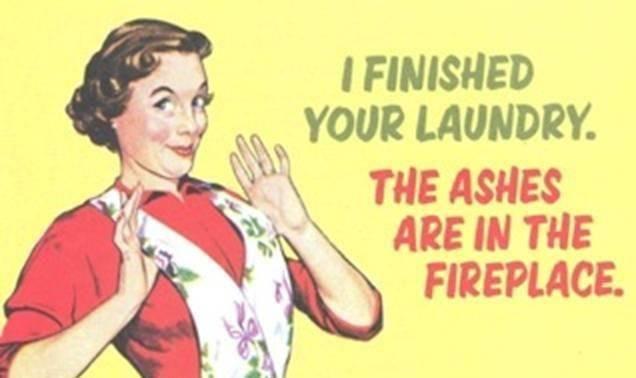 burn laundry