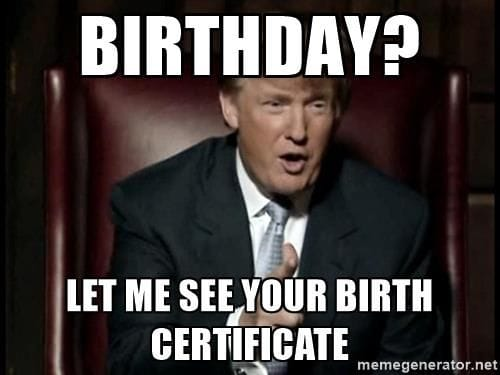 Birth Certificate Trump