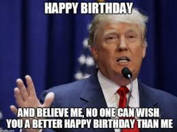 donald trump meme birthday