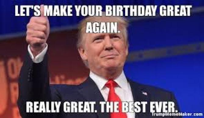 MAGA birthday meme