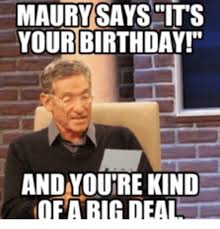 maury polvich reading my birthday meme