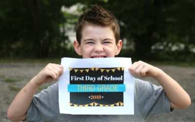 First Day of School Printable Sign – 2018 – Customized Signs from Preschool to College!