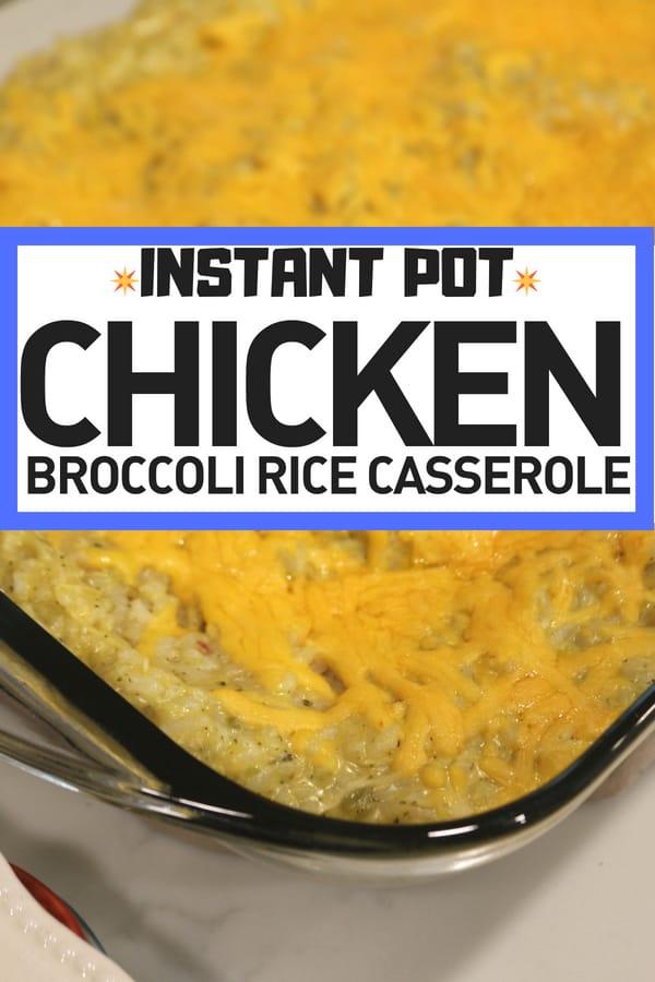 Chicken Broccoli Rice Casserole Instant Pot Recipe