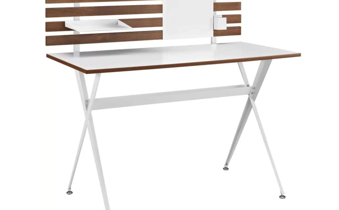 modern white writing desk