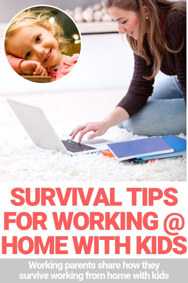 survival tips for work at home parents