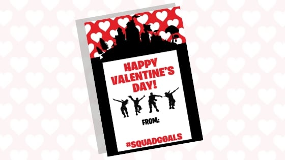 Free Fortnite Valentines Printable