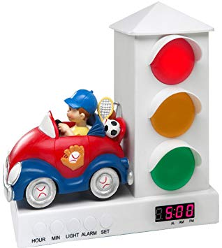 Kids Traffic Lights Alarm Clock for Sleep Training Toddlers