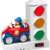 Kids Traffic Lights Alarm Clock for Sleep Training Toddlers