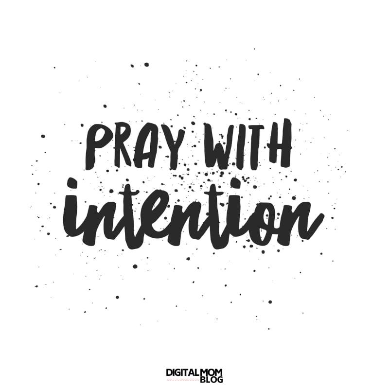 intentional prayer