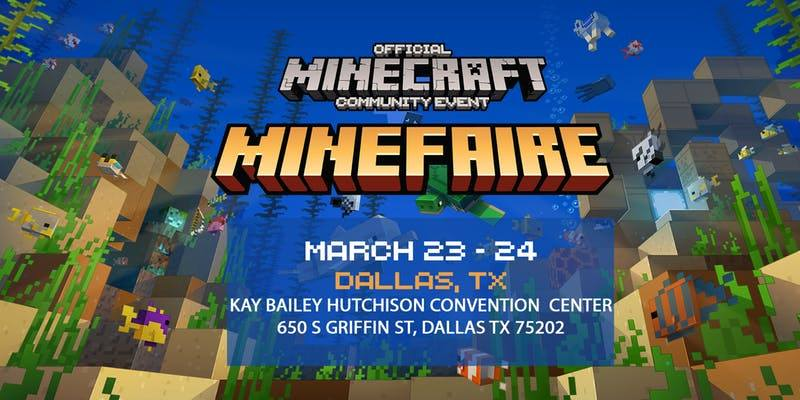 minecraft minefaire dallas gaming convention