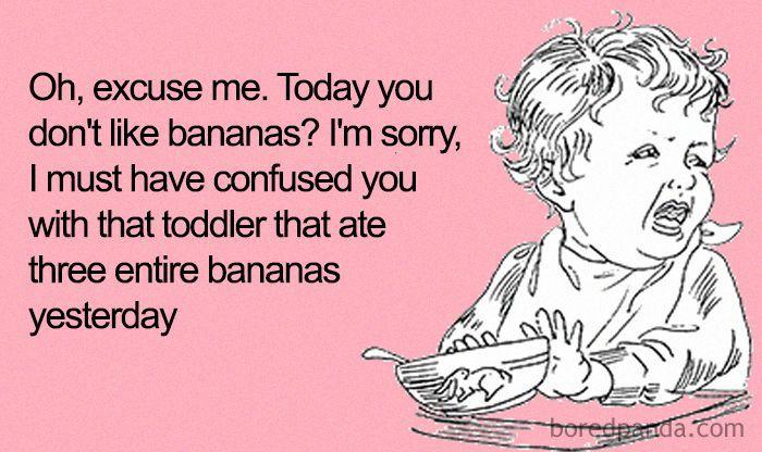 Toddler Eating Bananas