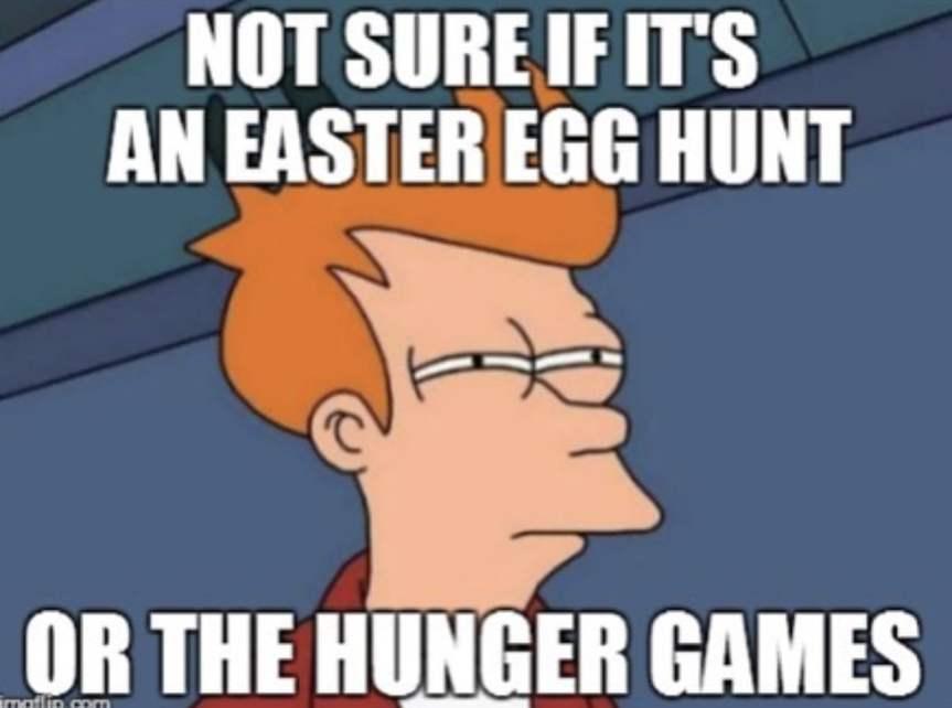 easter egg hunt meme