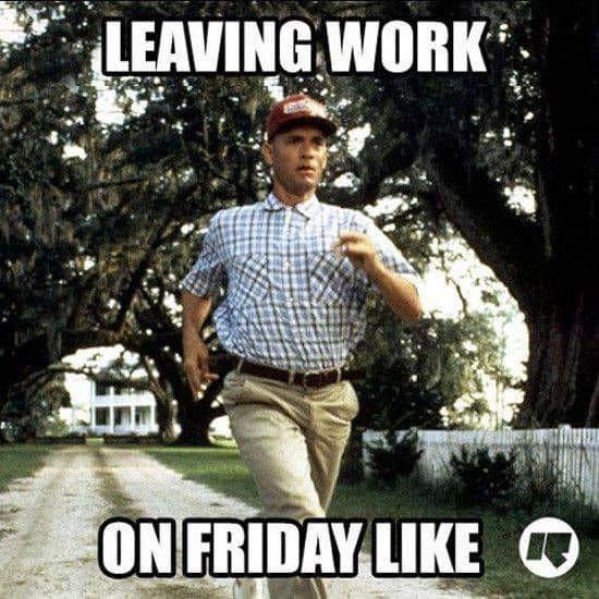 forest gump leaving work meme