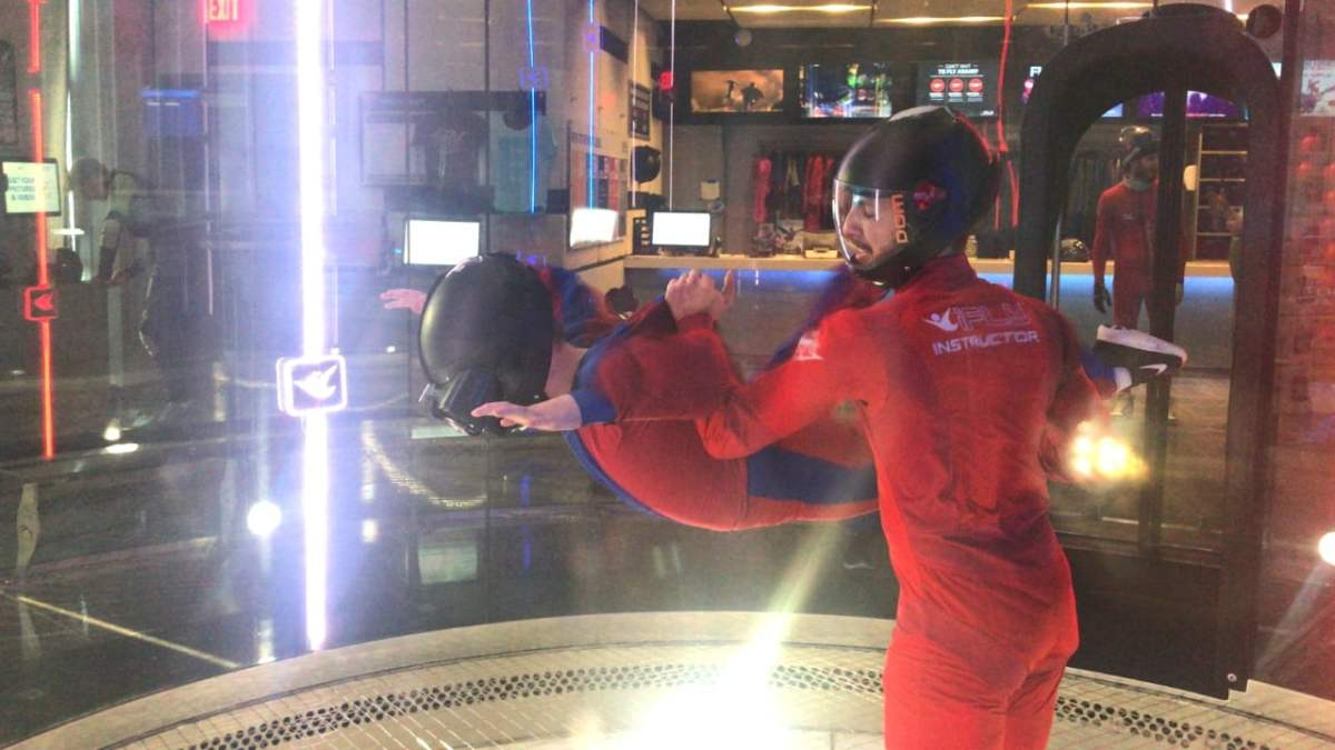 iFly Indoor Skydiving with Virtual Reality? YES.