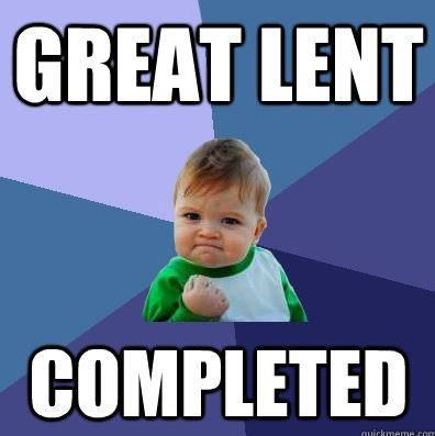 lent completed